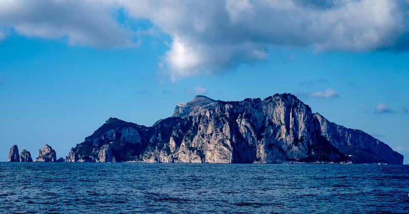 Approaching Capri.