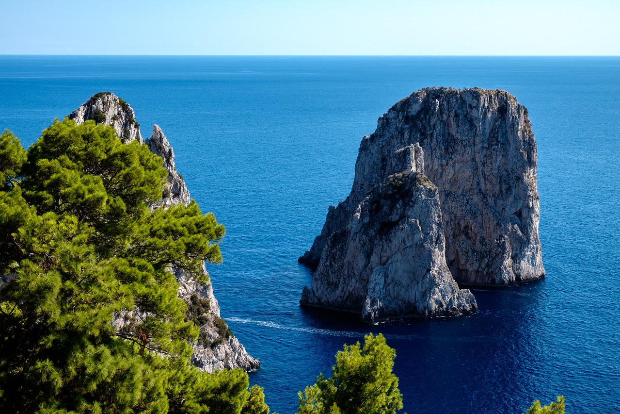Faraglioni formation off Capri.