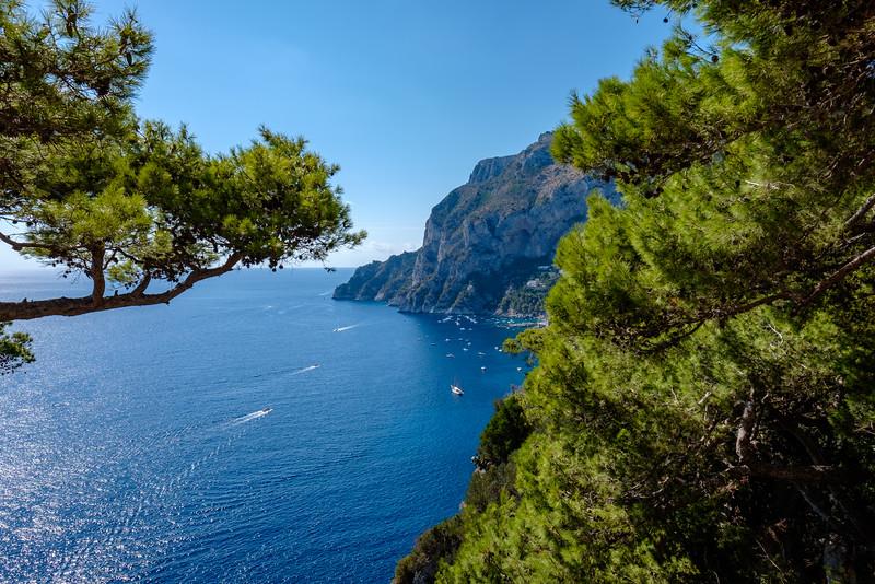 Walking in Capri.