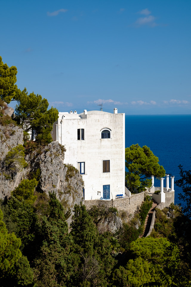 Walking in Capri.