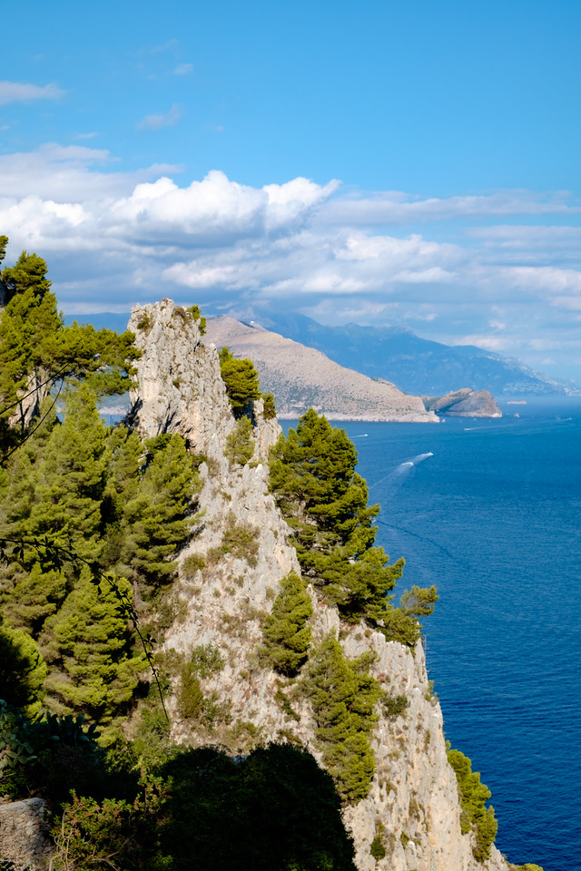 Along the cliffs of Capri.
