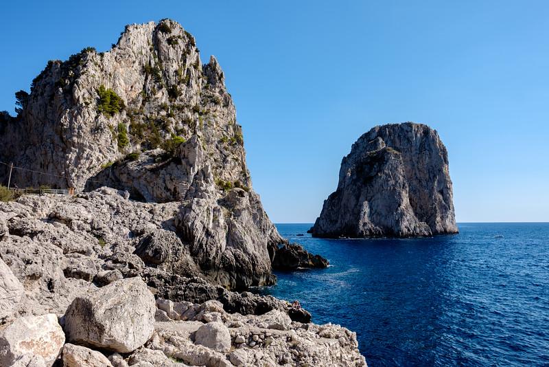 The Faraglioni from shore.