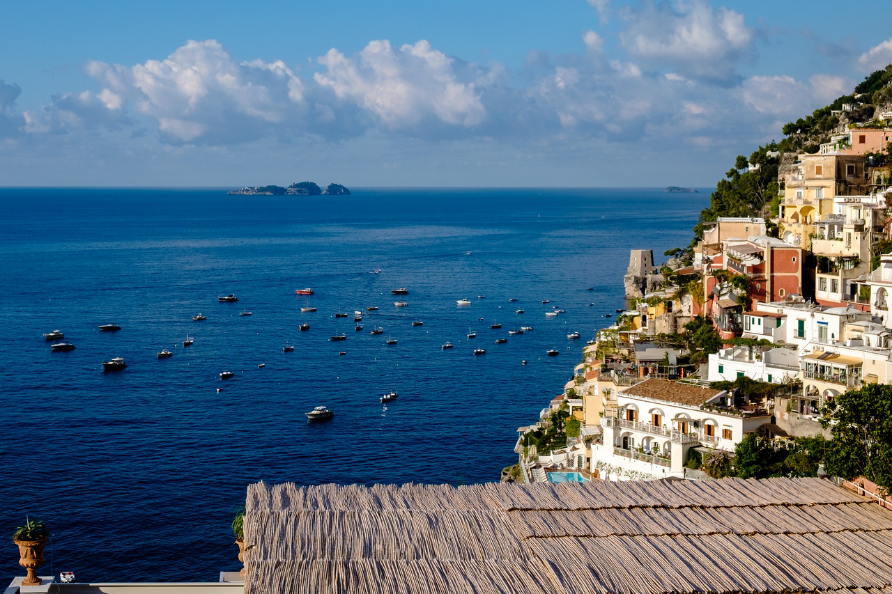 View from our hotel in Positano in the morning