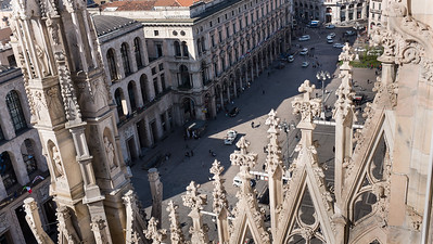 View from the roof of the Milan Cathedral