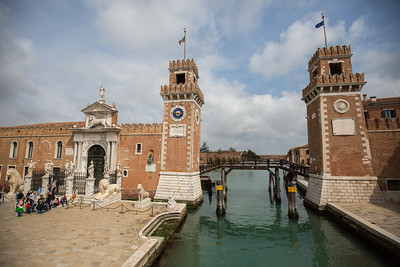 The entrance to the Arsenale di Venezia (Venetian Arsenal) - former shipyards and aresenal to the Venetian Republic. It was actually open for tours that weekend, but we didn't fight the crowds on the tour boats.