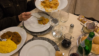 Osso buco and risotto milanese
