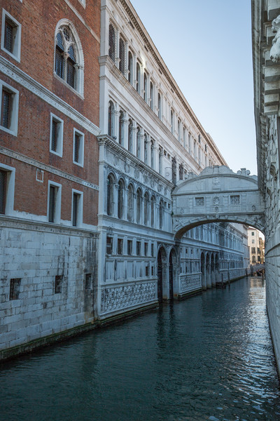 The Bridge of Sighs at Doge's Palace.
