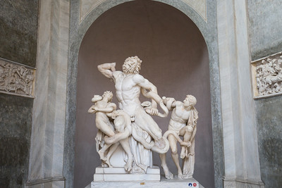 The sculpture that started it all for the Vatican Museums, Laocoön and His Sons (c. 27 BC - 68 AD), was discovered on January 14, 1506 in a vineyard near the basilica of Santa Maria Maggiore in Rome.