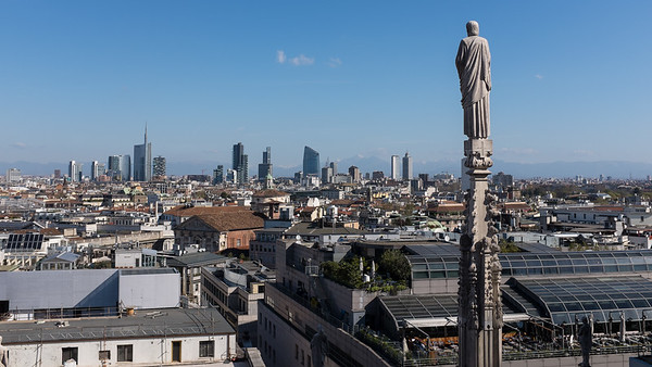 View from the roof of the cathedral, Milan