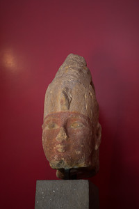 A statue from Thebes, Egypt of Pharaoh Nebtauira' Montuhotep, the second ruler of the 9th dynasty (2010-1998 BC).