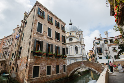 A nice example of the little squares and bridges - complete with a gondolier looking for passengers.