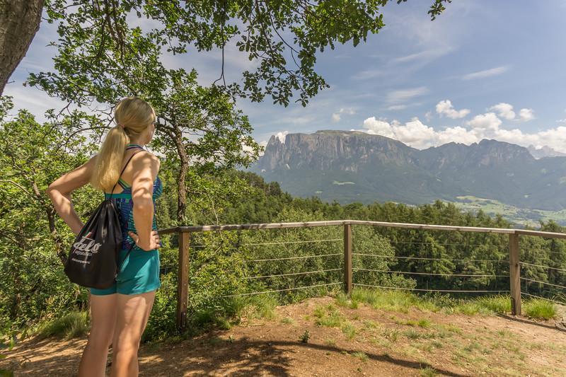 One of the panaramic overlooks while hiking above Bolzano