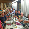 Our Belgian and British friends at Hotel Funivia Dining Room
