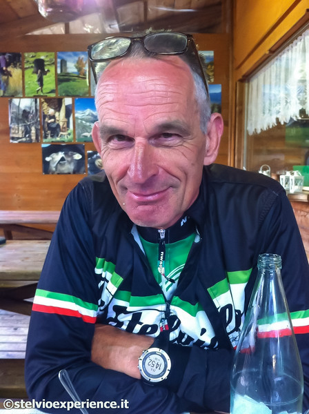George - 65 years old.  Retired and became a bike guide riding 6 days / week.