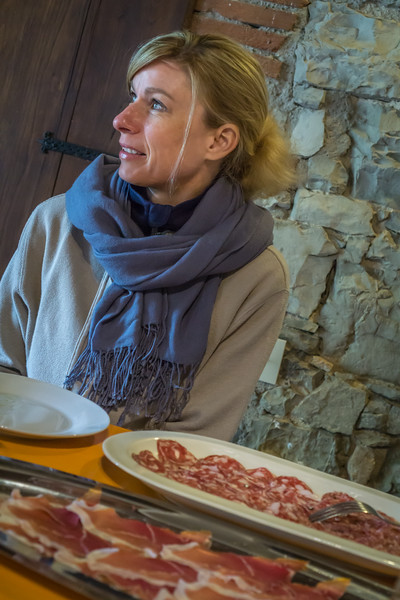 Tasting the products of our farm villa