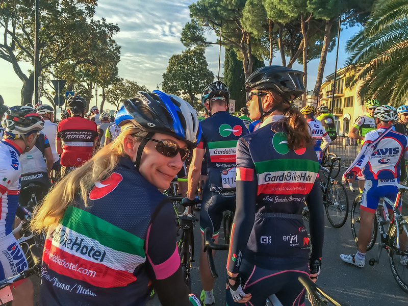 Ready to start the race at the Colnago Cycling Festival