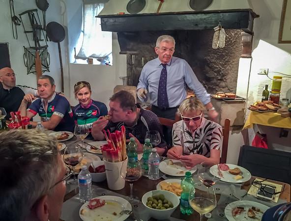 Lorenzo (Nicola & Alberto's father) hosts lunch at Agricola Conati