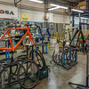 The final assembly area in the De Rosa Bicycle factory