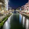 Milan's Canal District - Porta Geneva.  Lively bars & restuarants