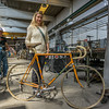 This museum piece was hanging on a rack in the factory.  Ridden by none other than Eddy Merckx.