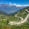 Finestre is a tough 18 km climb at 9%.  The final 9 km is on dirt & rock.  These switchbacks are the final 2 km.