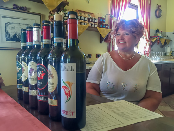 Marina prepared lunch and told stories as we tasted the wines with her family name on the label