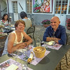 Sara & Allan at dinner following the big climb to Finestre