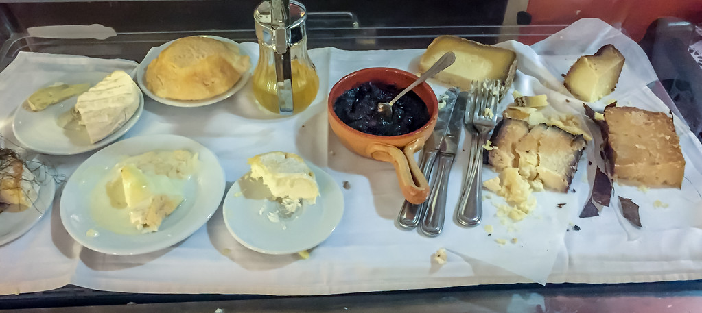 This restaurant had an excellent cheese cart.  You point and server creates magic