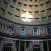 Sunlight entering the Pantheon through the oculus