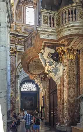 Church of St. Louis of the French.  Rome know marble.