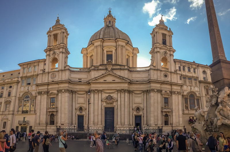 St. Agnese Church on Piazza Navona.  Photos were not allowed inside, but it was a small and tall church filled with gold and marble.  The proportions made it one of the most impressive we saw.