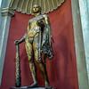 An uncommon bronze statue in the Vatican Museum