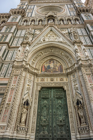 Entrance to the Duomo in Florence
