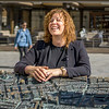 Barbara describes the history of Florence with the help of a a bronze model
