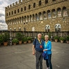 Mike & Lin at the Palazzo Vecchio in Florence
