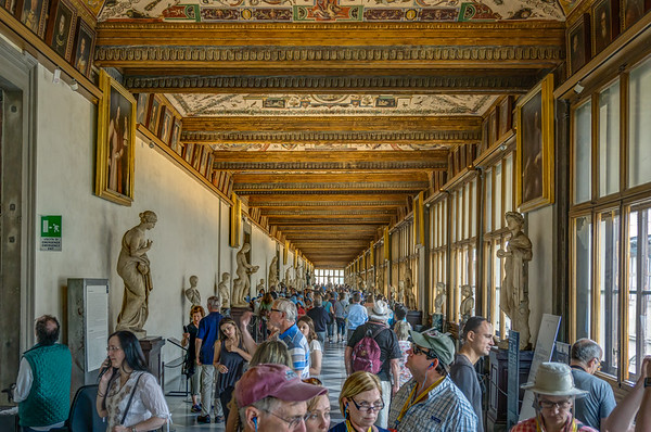 Hall of Galleries in the Uffizi