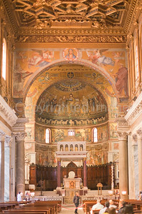 Interior of Santa Maria in Trastevere
