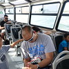 on the water taxi to venice. everyone is tired...except micah :)