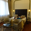 we arrived! in our room at hotel le isole, venice