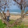 Jeane on the beach at Torre Santa Sabina