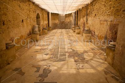 One room in Villa Romana del Casale, a UNESCO World Heritage Site