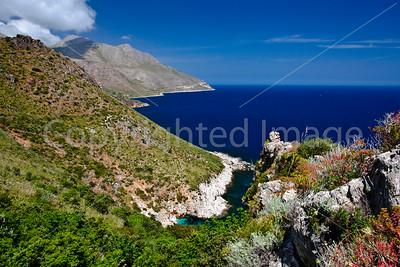 The coast at the Zingaro Nature Reserve in northwestern Sicily