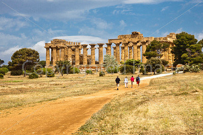 The Temple of Hera at Selinunte. Selinunte was founded in the 7th century BC and destroyed around 250 BC.