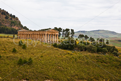 The temple at Segesta-The temple is in an isolated location away from the town of Segesta