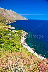 The coast of the Gulf of Castellammare in northwest Sicily