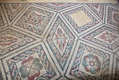 Mosaics on the floor of Villa Romana del Casale in central Sicily