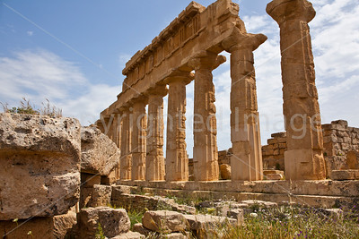 "Ruins of ""Temple C"" on the Acropolis at Selinunte"