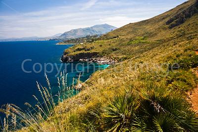 The coast at the Zingaro Nature Reserve