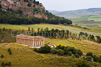 The temple at Segesta from above