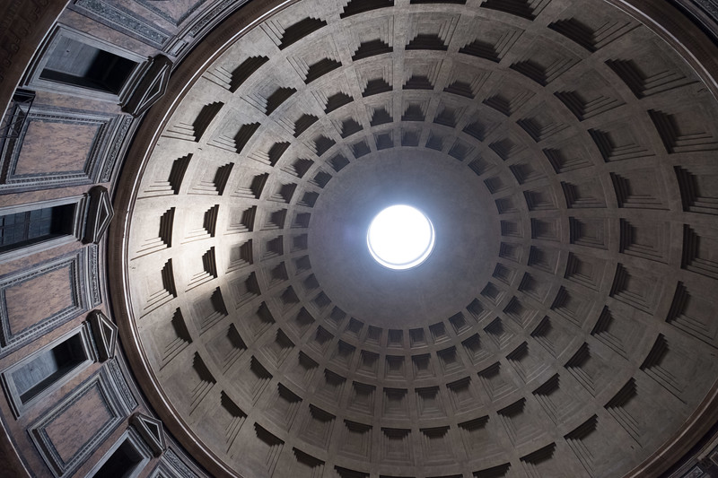 The marvel of the pantheon dome